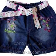 Шорты джинсовые для девочки от 1 до 4 лет, ШД560809 фото
