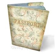 Обложки кожаная для паспорта Винтажный узор фото