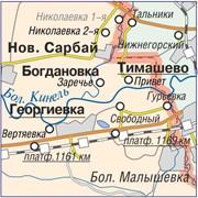 Карта Самарской области 100х110 см фото