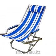 Шезлонг, 54 * 115 см, синий фото