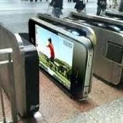 Размещение рекламы на турникетах фото