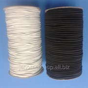 Резинка - шнур шляпная круглая 2,8мм, в рулоне 90 м фото