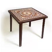 """Стол """"Romantik"""" квадр. декор Азия шоколад Т 212 (81*81см h71,5см) фото"""