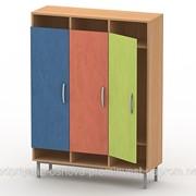 Шкаф для верхней одежды на металлокаркасе (3 секции) ШВО-1 фото