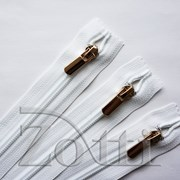 Молния пластиковая, белая, бегунок №71 - 60 см фото
