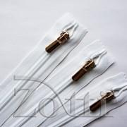 Молния пластиковая, белая, бегунок №71 - 25 см фото