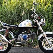 Мопед мокик Honda Monkey Custom рама AB27 Minibike тюнинг полный кастом пробег 8 т.км серебристый фото