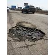 Ремонт дорог, ямочный ремонт асфальтобетонного покрытия фото