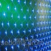 Гирлянда сетка 120 led белый провод фото