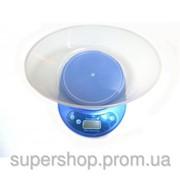 Кухонные электронные весы до 5кг KE-2 Blue 002991 фото