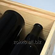 Ящик для вина на 8 бутылок с ручками сквозными по бокам фото