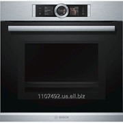 Духовой шкаф с микроволновым режимом и функцией подачи пара Bosch HNG6764S1 фото