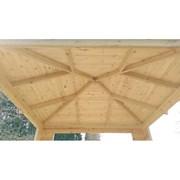 Беседка из деревянного бруса Комфорт Элит3х3 фото