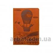 Обложка для паспорта Adventure рыжий Кожа фото