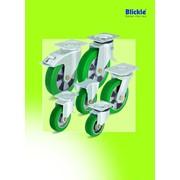 Большегрузные колеса и ролики с литым полиуретановым контактным слоем Blickle Softhane фото