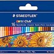 Набор масляной пастели Staedtler Noris Club, 16 цветов, 8 мм, картон фото