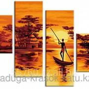 Картина по номерам Африканский закат фото