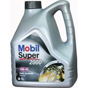 Полусинтетическое моторное масло Mobil Super 2000 10W-40 4л фото