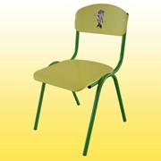 Стул детский гнутый, 246х260х340 мм, Код: 0244Ф, Стульчики для детских садов фото