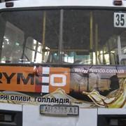 Реклама на и в транспорте Киева, Украины. фото