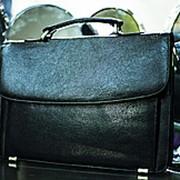 Мужская сумка-портфель SEHGAL 25х35см черная фото