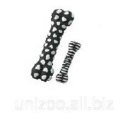 Игрушка для собак Косточка зебра с пищалкой 18,5x6,5x3,5 см фото