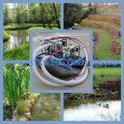Мобильные земснаряды Piranha для очистки водоемов, благоустройства пляжей, углубления дна и укрепления берегов фото