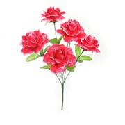 Цветок искусственный Роза 7 бутонов (90А874) фото