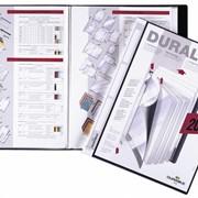 Папка Duralook Plus с 20 впаянными карманами, корешок 17 мм Черный фото