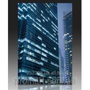 Ширма одностороння на полотні 120х180 см Гонконг. Нічні хмарочоси код SH-087-120-180 фото