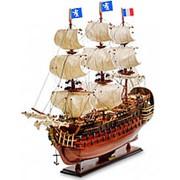 """Модель французского линейного корабля 1668г. """"Le Royal Louis"""" 87х76х26см. арт.SPK-03 фото"""
