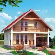 Двухэтажный мансардный каркасный дом Барин фото