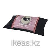 Подушка, единорог черный, сиреневый РИММА фото