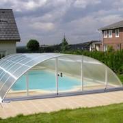 Накрытие для бассейна из поликарбоната фото