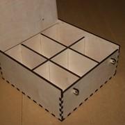 Короб для пакетиков чая (6 отделений) фото