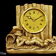 129-016 Часы декоративные настольные 17см. (х6)Полистоун фото