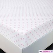 Простыня трик. на резинке Звезды розовые (253, 140х200, Розовый) фото