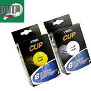 Мячики для тениса настольного STIGA CUP ОРАНЖЕВЫЕ 6 ШТ в коробочке фото