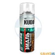 Краска KUDO молотковая по ржавчине серебристо-синяя 520мл фото