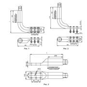 Зажим аппаратный прессуемый А6АП для полого провода фото