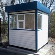 Посты охраны из сэндвич-панелей 2х2. Алматы. Сторожевые будки. фото