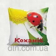 Подушка декоративная с принтом Кохання фото