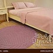 Коврик круглый Gelin Home ERGUVAN хлопковая махра тёмно-розовый D=120 фото