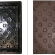 Формы для тактильной плитки Конусообразные рифы 300х300х50 фото