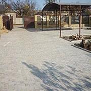 Услуги по обработке стройматериалов. Тротуарная плитка. фото