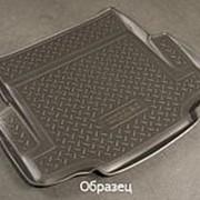 Коврик в багажник Skoda Octavia универсал 2008-2013 (полиуретановый с бортиком) фото