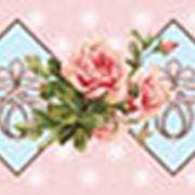 Бумажный скотч с принтом Свежие розы фото