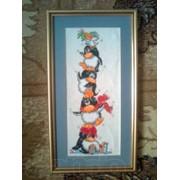 Картина крестиком пингвины фото