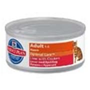 Корм для котов Hill's Science Plan Optimal Care консервы для кошек с курицей и печенью 156 гр фото
