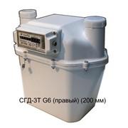 Счетчик газа диафрагменный с термокомпенсатором СГД-3Т G6 (правый) (200 мм) фото